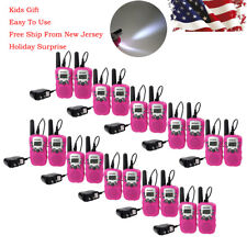 20×Retevis Walkie-Talkie Rt-388 Pink 2Way Kids Uhf 0.5W 22Ch Ctcss/Dcs Frs/Gmrs