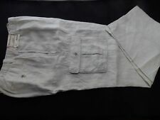 Caribbean Men's 100% Linen Cargo Style Pants, Sizes 36/32 to 40/34, Natural, NWT