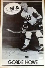 GORDIE HOWE SIGNED JSA CERTED VINTAGE 11X17 POSTER AUTOGRAPH AUTHENTIC