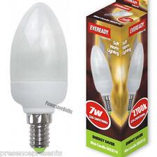 4 X  WARM WHITE 2700k.CANDLE SHAPE LIGHT BULB ENERGY SAVING 7w SES E14