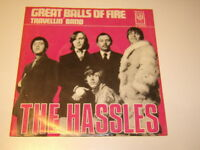 """THE HASSLES - GREAT BALLS OF FIRE 7"""" BILLY JOEL---Vinyl : Mint / Cover:ex"""