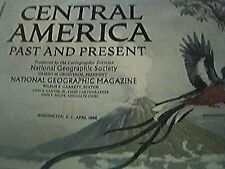 national geographic map 1986 central america past and present