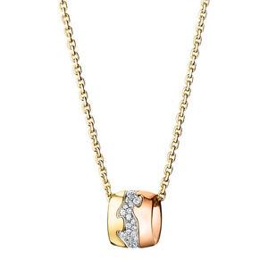 Georg Jensen 18 Ct. Gold Pendant # 1511 B - FUSION with Pavé Set Diamonds