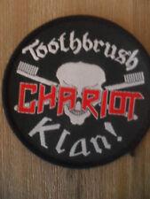 Toothbrush Chariot Klan ! muziek patch Sew On black