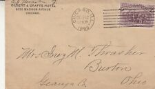 1893 Letter and Envelope - Gilbert & Crafts Hotel , Madison Ave , Chicago Ill.
