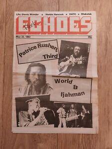 BLACK ECHOES MAGAZINE 22 MAY 1982 PATRICE RUSHEN THIRD WORLD IJAHMAN SHAKATAK