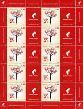 Croatia 2017 MNH World Poetry Day 10v M/S + Label Poets Literature Stamps