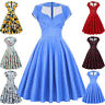 Retro Vintage Women 50s Style Summer Floral Evening Party Dress Swing Pinup LOT