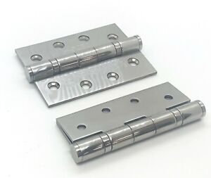 """Fire Door Hinges, Polished Stainless Steel 4"""" Ball Bearing Certifire Jedo"""
