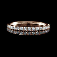 Diamond Wedding Band Classic Engagement Anniversary Ring Solid 18k Rose Gold