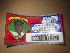 1996 Illinois Scratched Lottery Ticket of Minnie Minoso of the Chicago White Sox