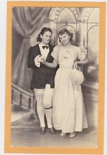 Studio Real Photo Postcard RPPC- Two Affectionate Women Dancing Pose Lesbian Int
