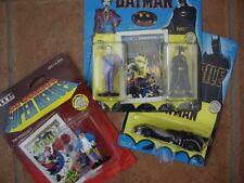 Four Die Cast Metal Figures (Batman,Joker, Penguin & Batmobile) 1990 Unopened