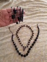 Black costume jewelry Bracelets and Necklaces