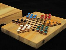 """Chinese Checkers, wooden travel board game 5.2""""x 4.53"""""""