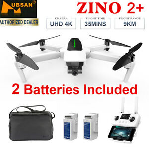 Hubsan Zino 2+ 5G WIFI APP Drone 4K FPV Quadcopter-3Gimbal Camera+2Battery+Bag