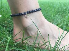Fußkette Fußkettchen Fußschmuck Edelsteine handgefertigt Aventurin
