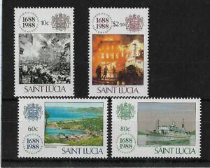St.Lucia 1988 Lloyds of London Anniversary MNH