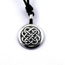Irish Pewter Celtic Knotwork Pendant and Full Length Adjustable Cord