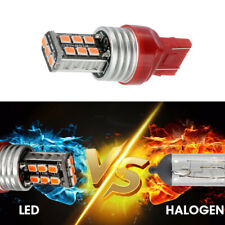 2x Red T20 7443 15 LED Dual Filament Bulb Car Brake Lamp Turn Signal Tail Light