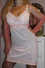 """(S9) Vintage St.Michael peach nylon full slip petticoat lingerie Bust 36"""""""