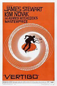 Vertigo 1958 Alfred Hitchcock Retro Movie Poster A0-A1-A2-A3-A4-A5-A6-MAXI 261