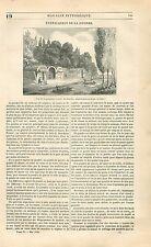 Poudrerie royale du Bouchet à Vert-le-Petit Essonne GRAVURE ANTIQUE PRINT 1838