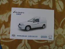 Zaz Lanos Cargo Ukraine brochure prospekt leaflet