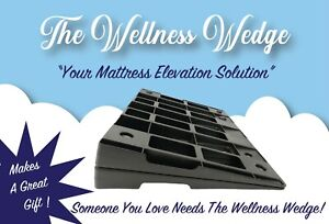The Wellness Wedge:Your Mattress Elevation Solution: Two Pack of Bed Wedges