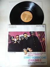 """ENNIO MORRICONE """"SACCO E VANZETTI"""" JOAN BAEZ LP 33 GIRI RCA OST"""