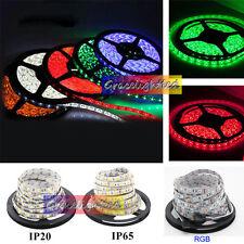 1M-5M SMD 5050 RGB white Waterproof 300 LED Flexible 3M Tape Strip Light DC12V