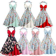 50'S 60'S Rockabilly Dress PLUS SIZE Swing Pinup Retro Housewife Party Dress