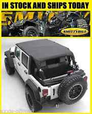 Smittybilt 94635 Extended Top Fits 10-18 Jeep Wrangler JK Unlimited Black Top