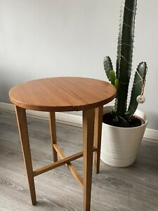 Mid Century G PLAN FOLDING TABLE Circular Wooden TEAK Side Table Plant Stand