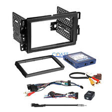 Car Radio Stereo Double Din Gm Dash Kit OnStar Bose Swc Wire Harness Interface