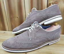 Ted Baker Suede Brown Sandstone White Sole Mens Brogues UK 11 EU 45 Archerr 2