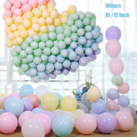 100Pcs 10/12 inch Macaron Candy Colored Pastel Latex Balloon Wedding Party Decor