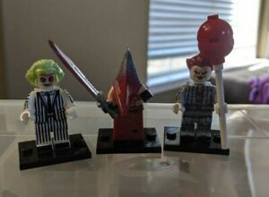 Beetlejuice, Pennywise & Pyramid Head inspired Minifigs