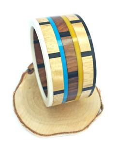 Mango Wood & Resin Bangle / Wooden Bracelet / Wooden Jewellery / Wood Bangle