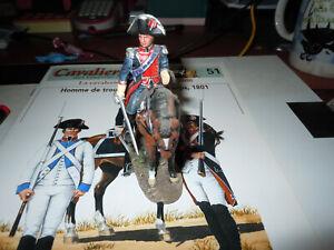 CAVALIERS DES GUERRES NAPOLEONIENNES homme de troupe garde du corps 1801