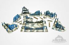 """Terrains4Games  FROZEN CITY 28mm painted for table 48x72"""""""