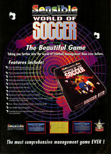 "Sensible World Of Soccer ""Sensible Software"" 1994 Magazine Advert #5724"