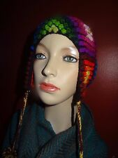 New Alpaca Wool  Hat Chullo Peruvian Women's Peru