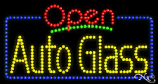 "New ""Open Auto Glass"" 32x17 Solid/Animated Led Sign W/Custom Options 25451"