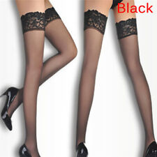 8D Oil Shiny High Glossy Hosiery Nylons Hold Up Socks Tights Thigh High Stocking