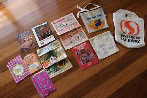 Vintage Sales Brochure Catalogue Safeway Bag Woolworths McEwans Amway Chadstone