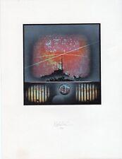 Rare Print: Space  #2 (Noll?)  KN450 Auflage (Edition) Aug 75  (Framed)