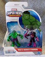 PLAYSKOOL HEROES MARVEL SUPER HEROES ADVENTURES HULK & MARVEL'S HAWKEYE