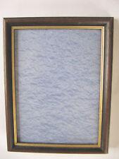 cadre anti-reflet d'occasion photo 13x17,5 aspect rustique bois foncé filet doré