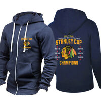 Chicago Blackhawks Hoodie Sports Jacket Hockey Hooded Coat Breathable Sweatshirt
